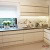 Кухня акриловая плита и врезной алюминиевый профиль