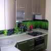 Кухня МДФ, стекляный фартук